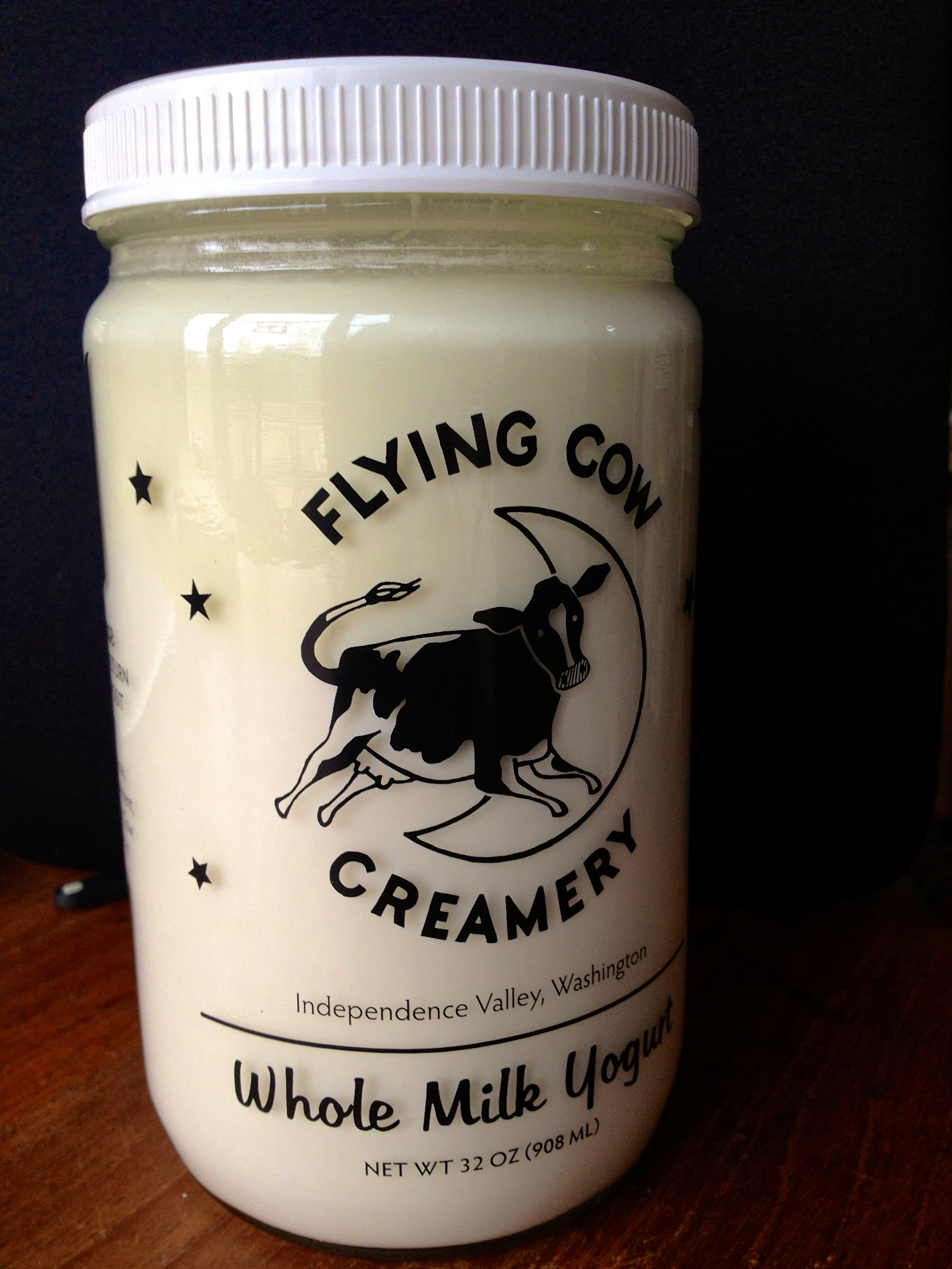 Flying Cow Creamery Yogurt Share - Flying Cow Creamery makes yogurt the old-fashioned way: no additives and no thickeners, just milk and yogurt culture. The way yogurt should be! The cows that provide the milk for this product are raised on a small farm in beautiful Independence Valley, WA.Two 32 oz. jars will be delivered every other week (9 deliveries $15/week $135 for the season) in a reusable cooler bag. We would like members to return cooler bag and jars weekly with CSA box to prepare for the following week's delivery.Please note: Our Flying Cow Creamery Yogurt Share is only open to full-season CSA members. Thank you!