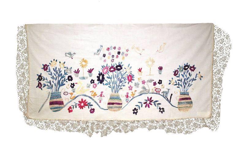 Ceremonial cofradía altarcloth San Pedro Sacatepéquez, San Marcos Ixchel Museum Collection (MI-03737)