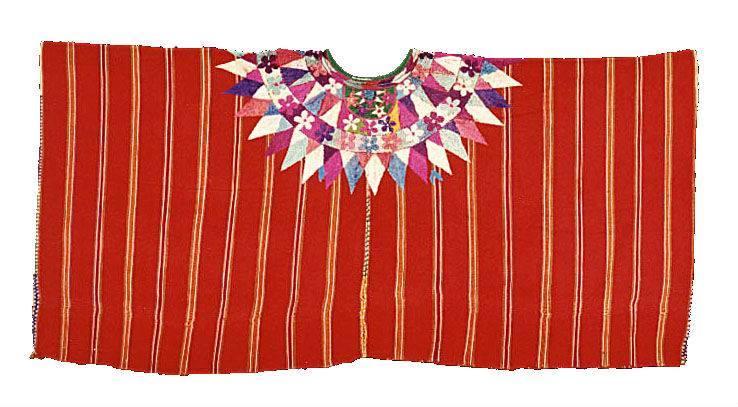 Ceremonial sobrehuipil  Patzún, Chimaltenango Ixchel Museum Collection (MI-05894)