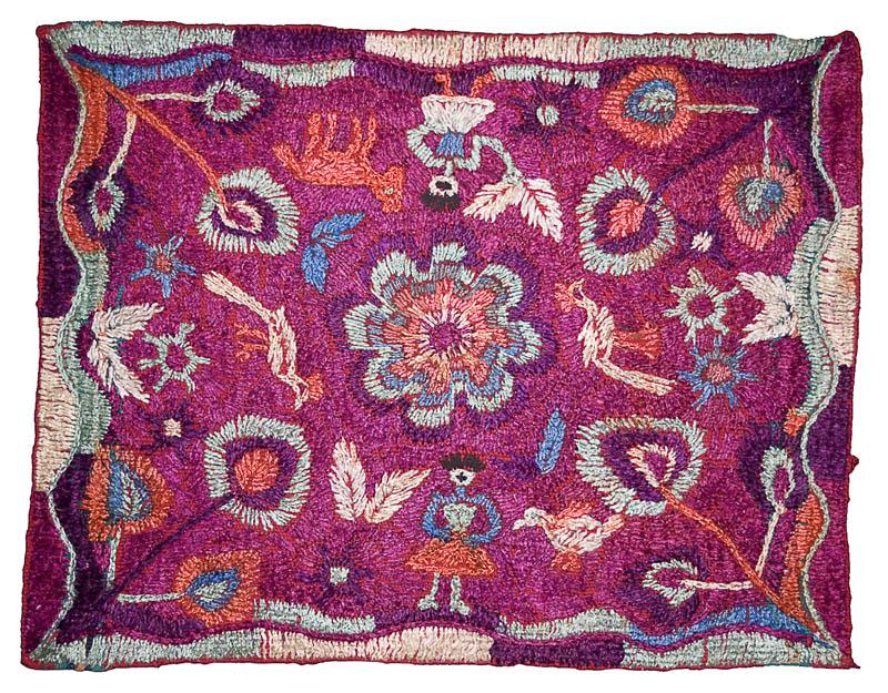 Paya  o velo ceremonial para cofradía Samayac, Suchitepéquez Colección Museo Ixchel: (MI-02667)