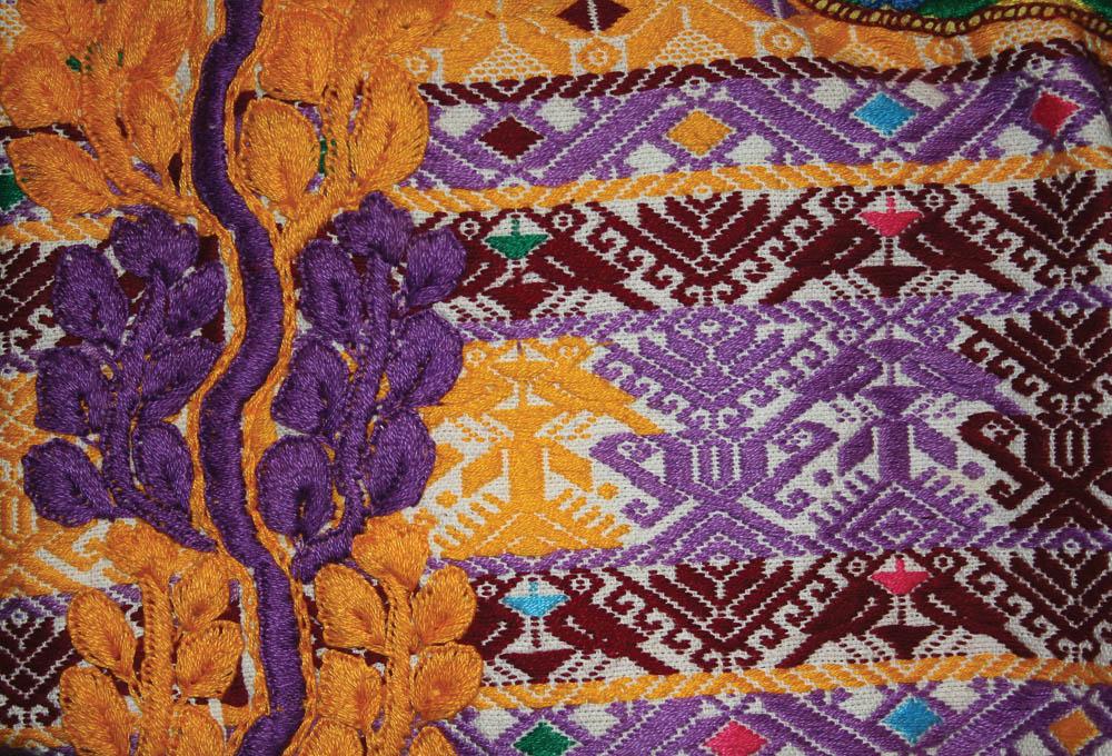 Detalle de huipil de diario, Quetzaltenango , Quetzaltenango MI-00597 ©Archivo Fotográfico Museo Ixchel del Traje Indígena Fotógrafo. Anne Girard