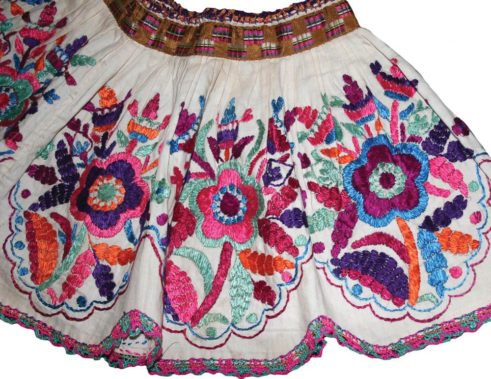 Detalle de gola o cuello ceremonial, San Cristóbal Totonicapán, Totonicapán MI-00501 ©Archivo Fotográfico Museo Ixchel del Traje Indígena Fotógrafo. Anne Girard