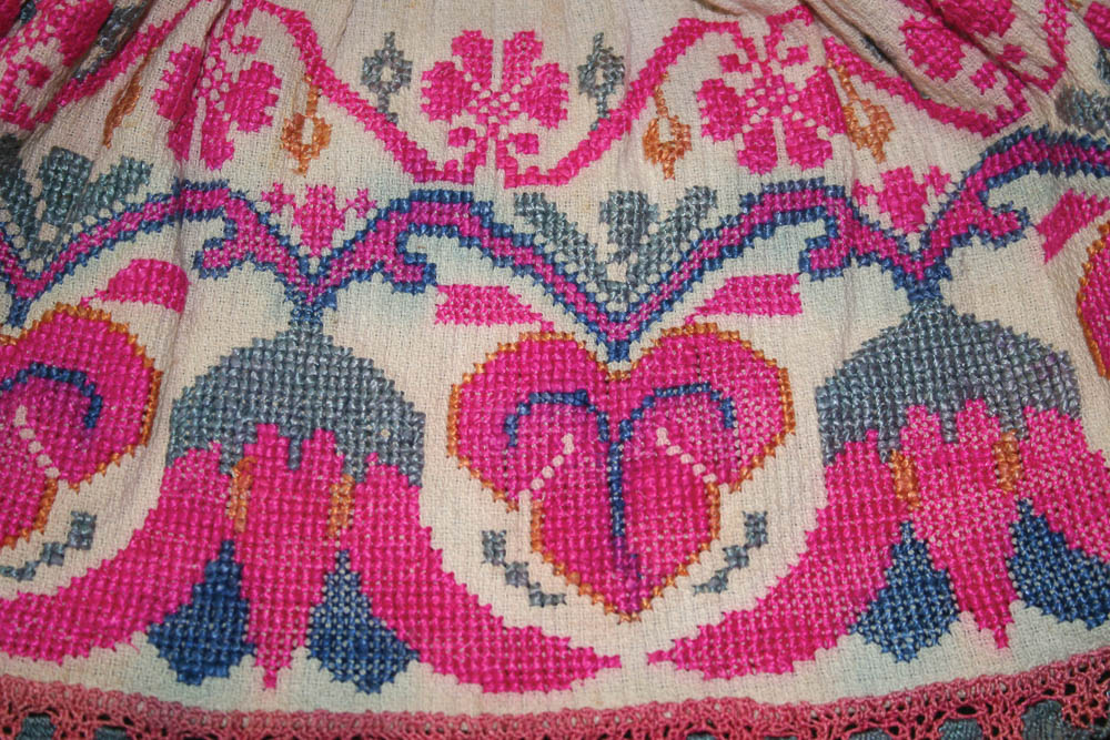 Detalle de gola o cuello ceremonial, San Cristóbal Totonicapán, Totonicapán MI-01964 ©Archivo Fotográfico Museo Ixchel del Traje Indígena Fotógrafo. Anne Girard