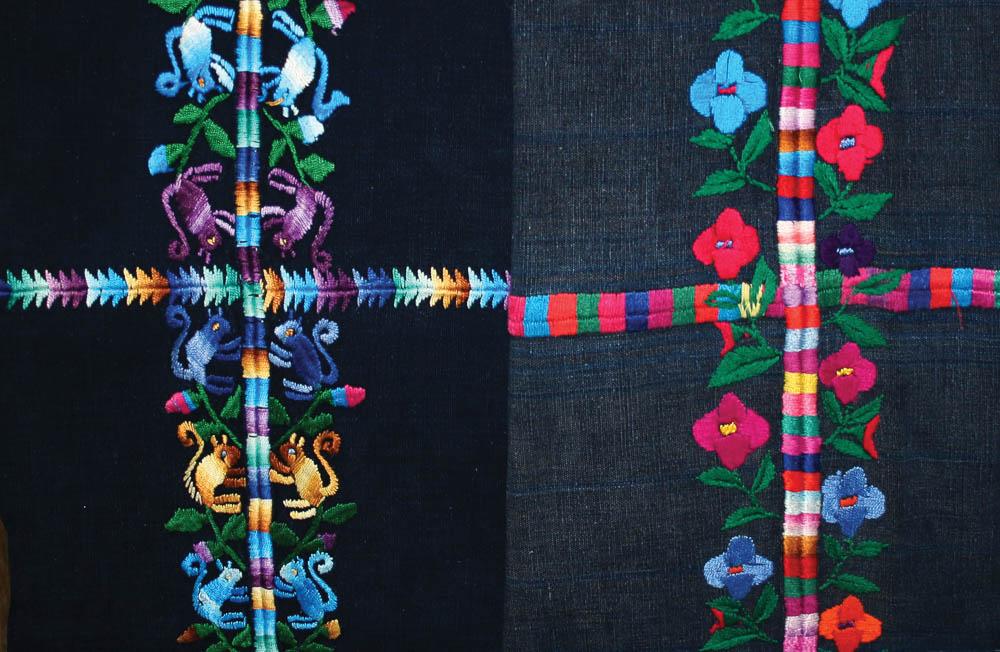 Detalles de randas cortes Santo Domingo Xenacoj, Sacatepéquez ©Archivo Fotográfico Museo Ixchel del Traje Indígena Fotógrafo. Anne Girard