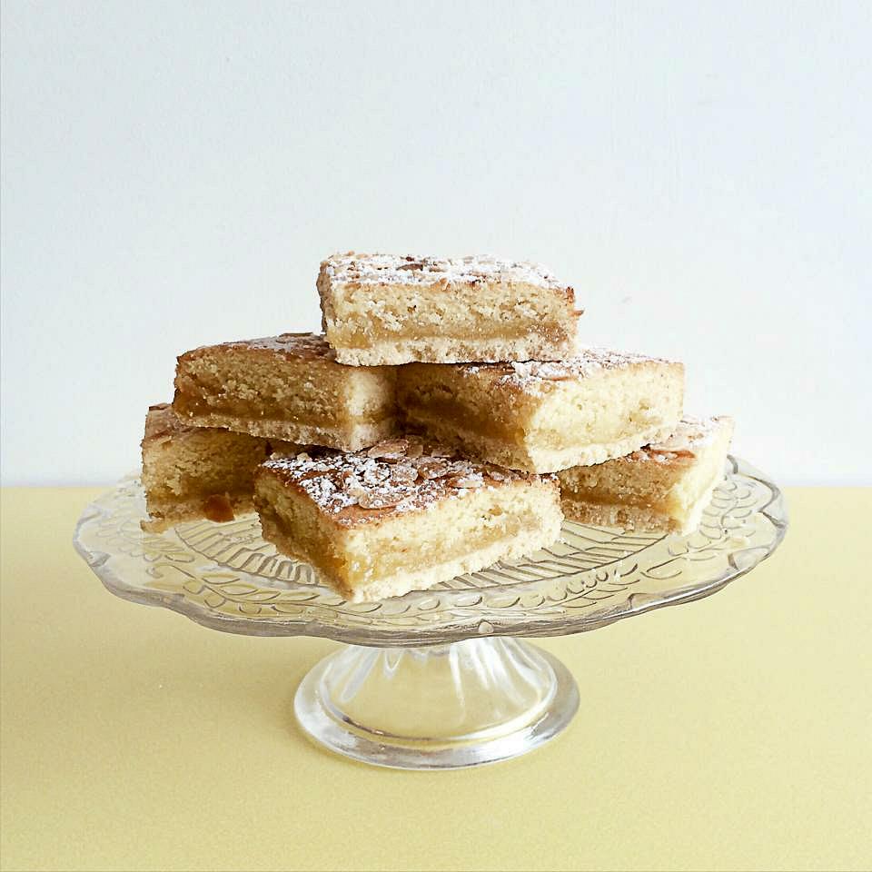 lemon bakewell slice