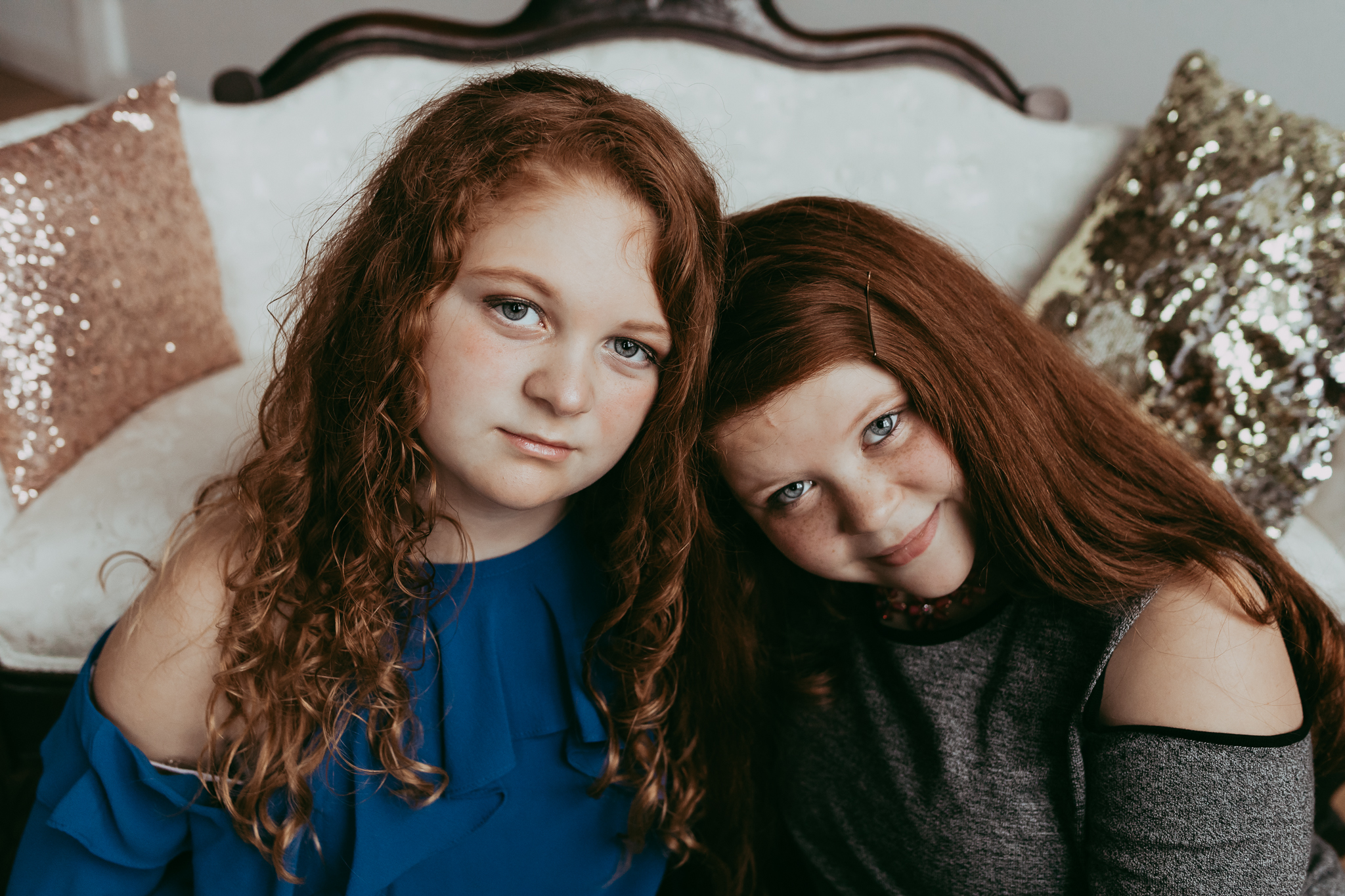 red haired twin sisters - Minnetonka Family Photographer