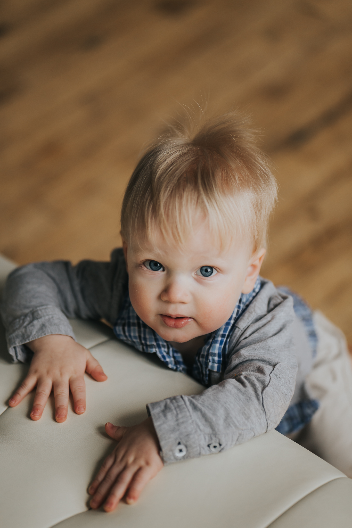 one year old photo of boy - Twin Cities Baby Photography