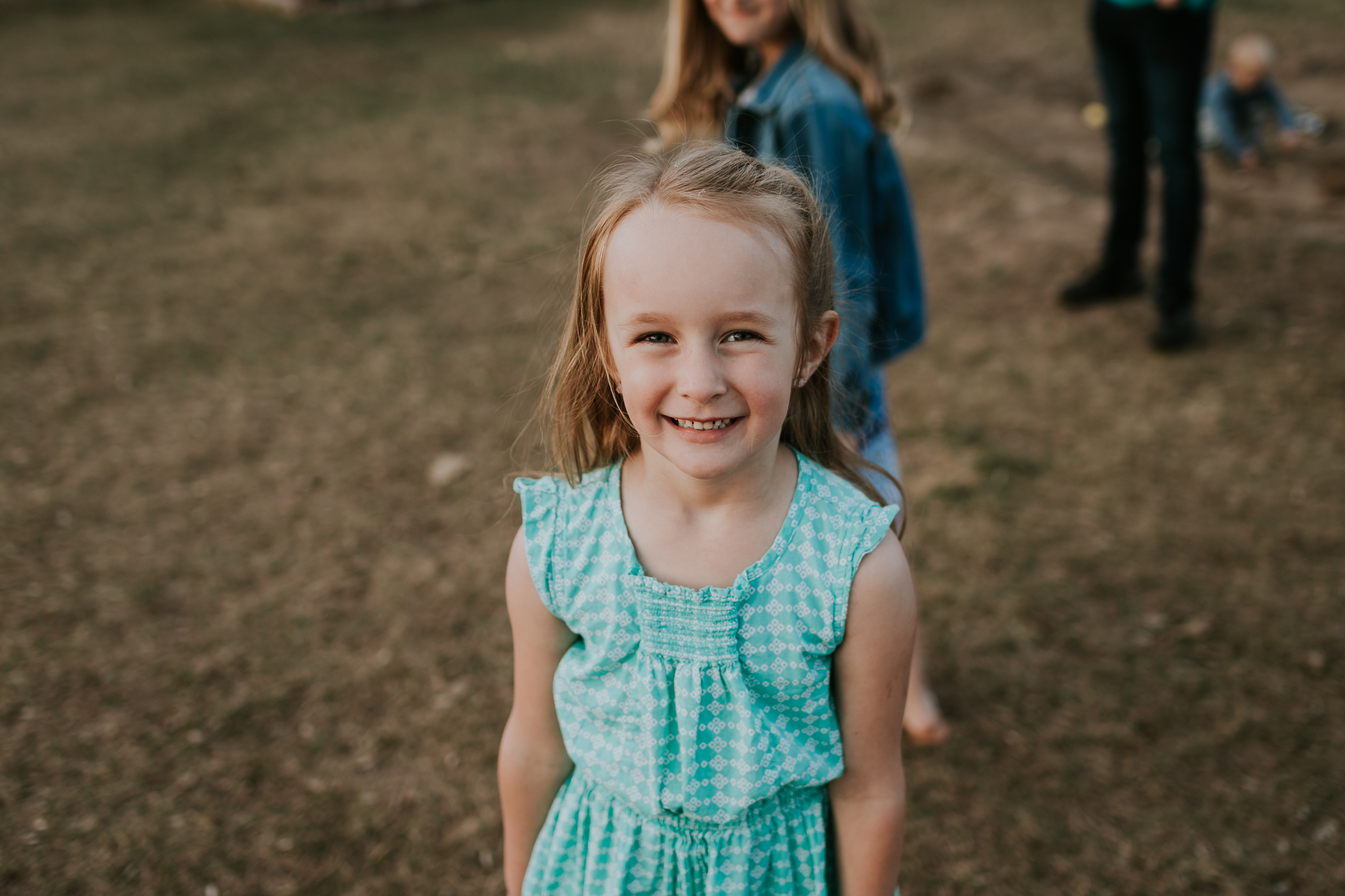 little girl in green dress - Minnesota Child Photography