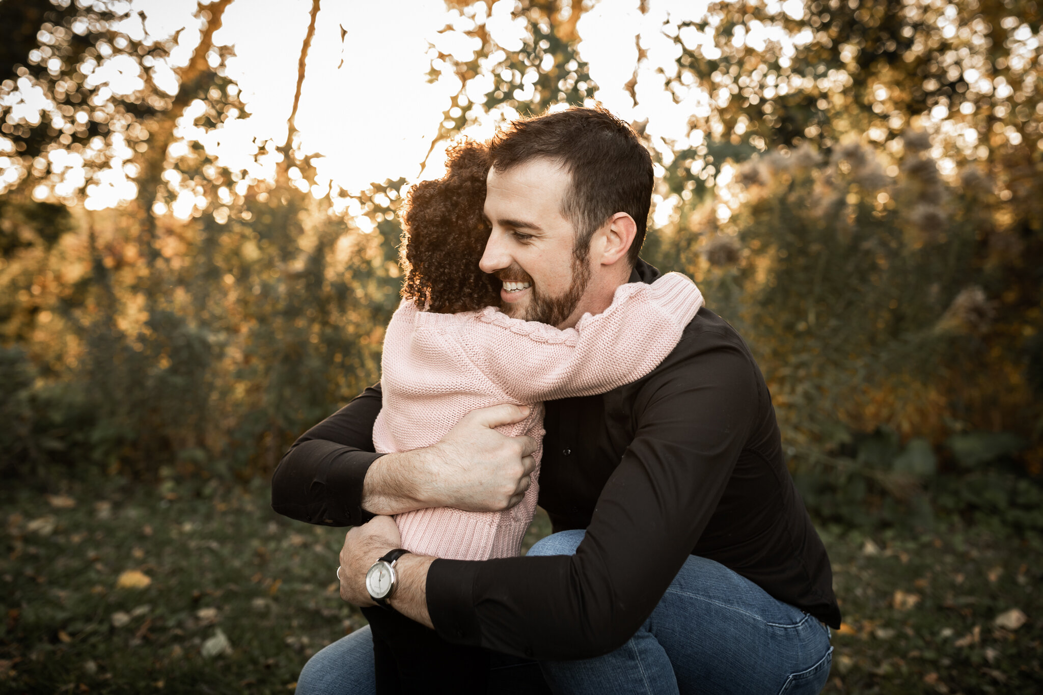 Nothing better than a hug from dad!