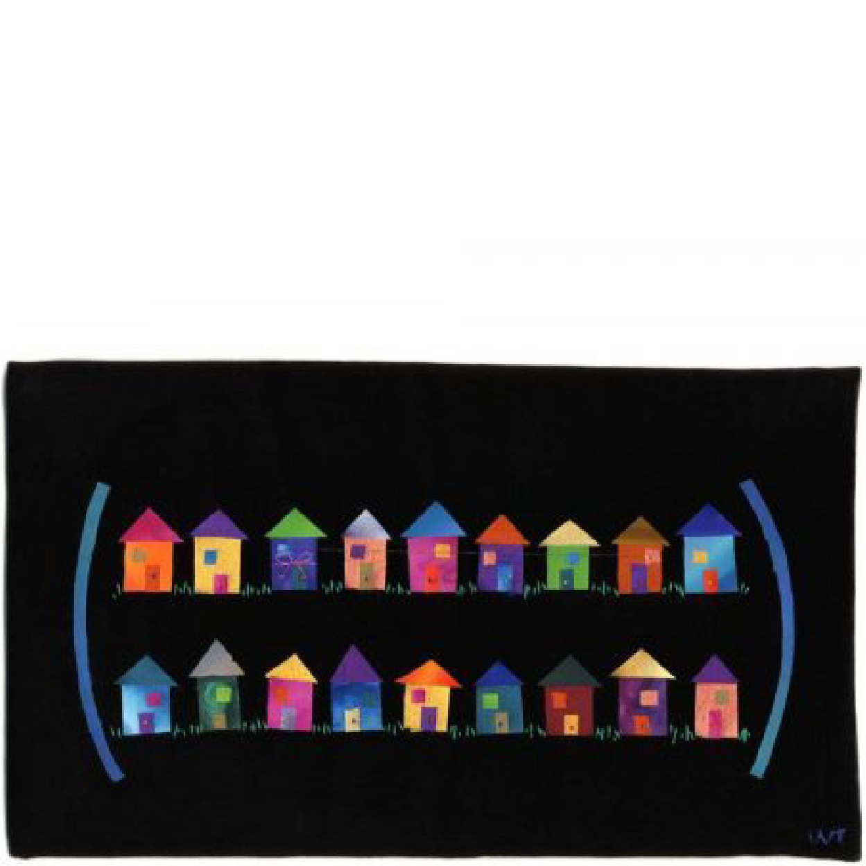 NEIGHBORS , 2003   Community is a gift.   Hand dyed silks, velveteen, thread, hand quilted
