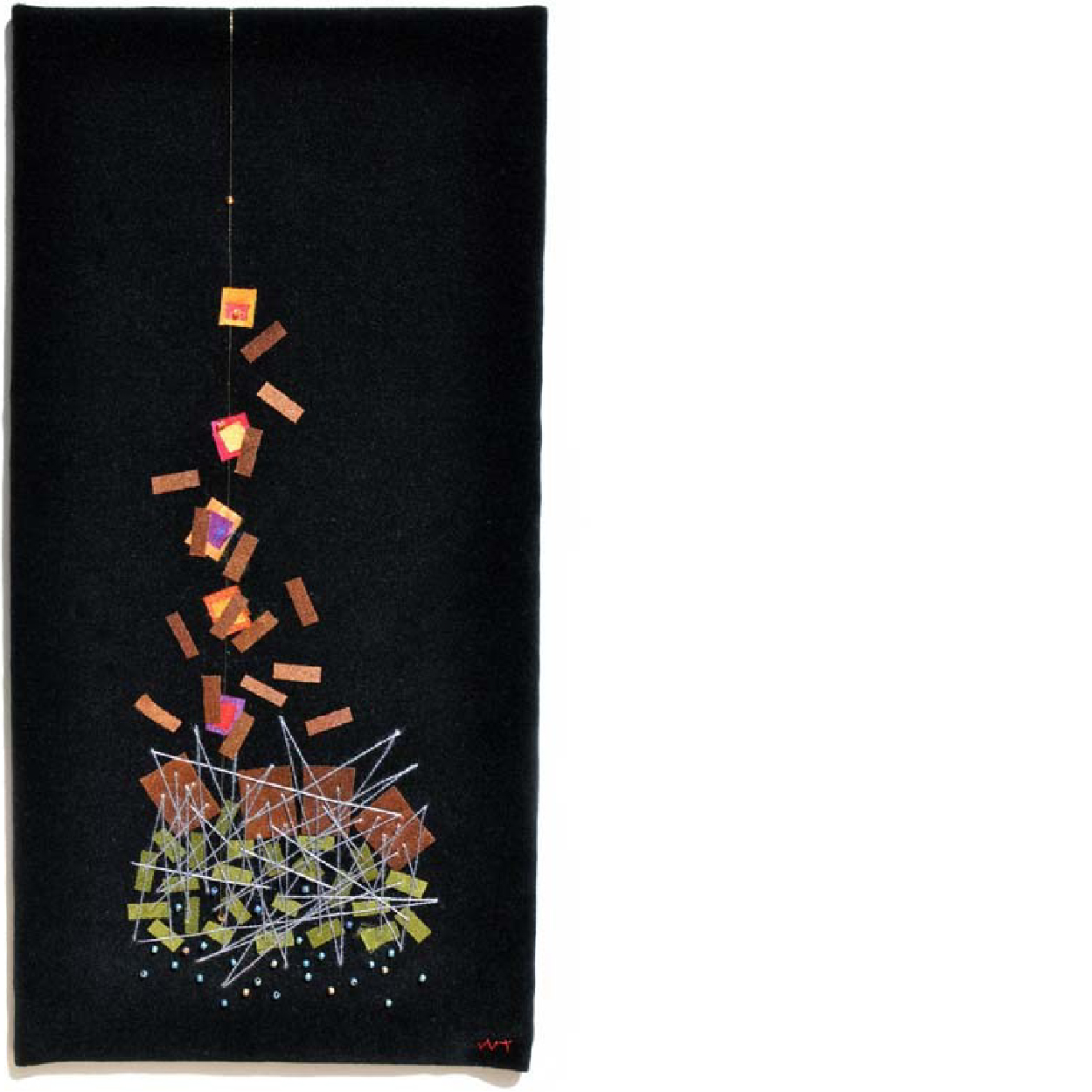 ESCAPE , 2005  Hand-dyed silks, velveteen, thread, beads, hand quilted