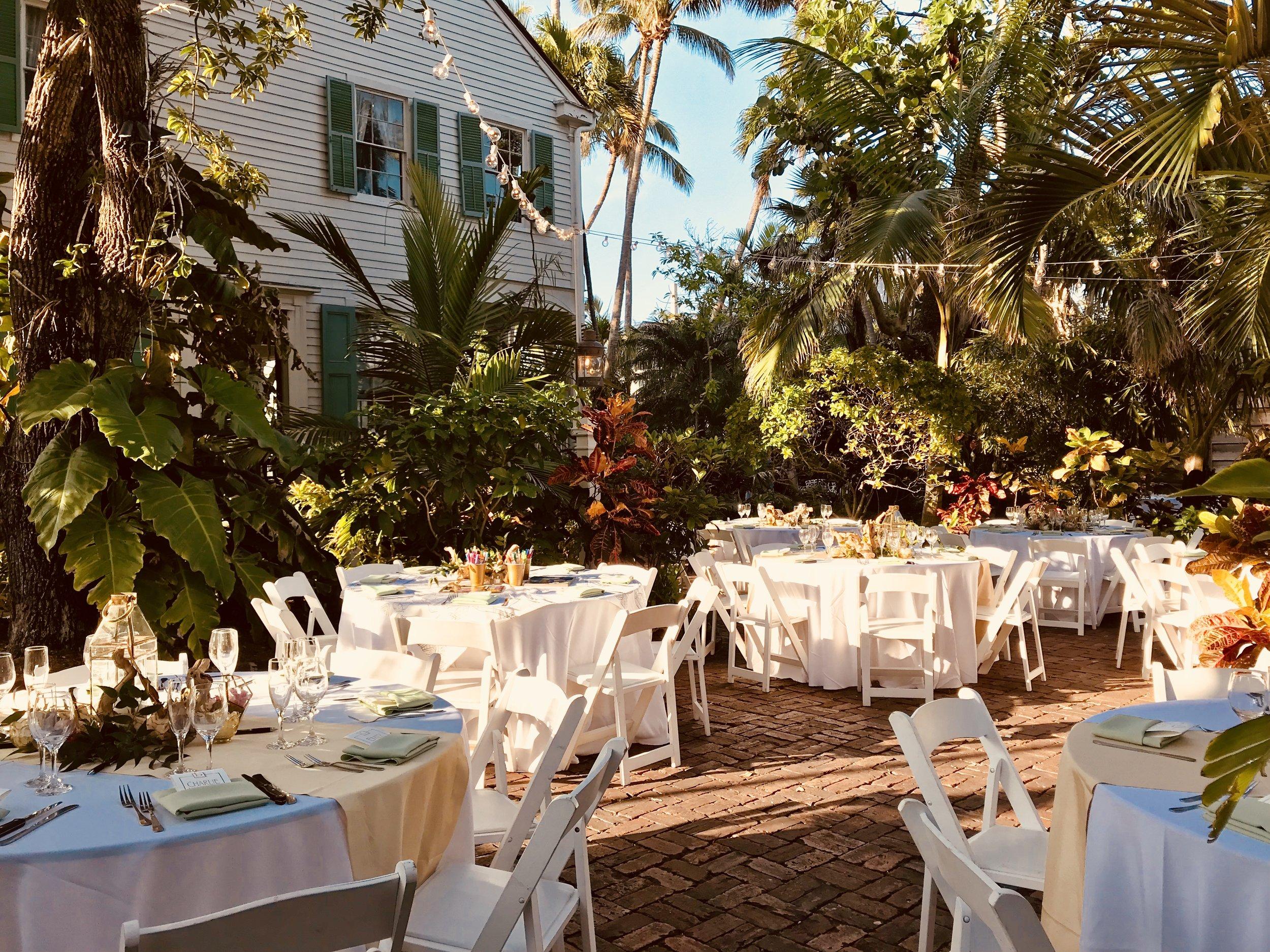 Key West Garden Wedding Audubon House