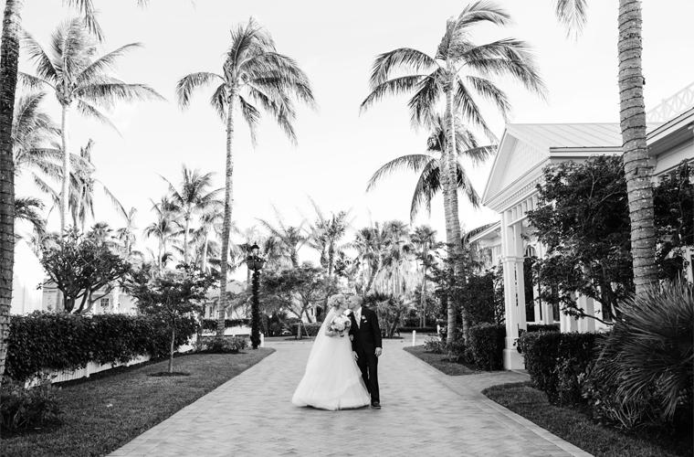 Soiree Key West bride & groom at Sunset Key