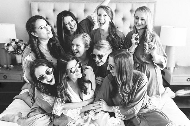 """There is something magical about weddings, not just because of the profound love between two people, but because of the amount of love filled in the room - particularly those who are standing by the bride and groom's side. It is a statement that says these are our """"forever"""" people. 📸: @irismoorephoto • • • #bridesquad #teambride #bridesmaids #mygirls #destinationwedding #luxurywedding #weddingday #weddingvibes #keywest #flkeys #soireekeywest #hireaplanner #weddingplanner #weddingpro #dayofcoordination #lifeofaweddingplanner #dreamwedding #weddingtrends #love #igerswedding #blackandwhitephoto #weddingphotographer"""