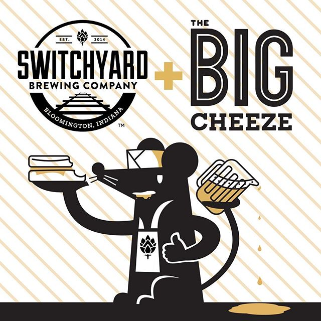 We're excited to announce, starting May 27th, The Big Cheeze will be parked outside of @switchyardbrewing  everyday from 11am-11pm! Stay tuned for exclusive collaborations, including a new brunch menu and specialty items only available at Switchyard!