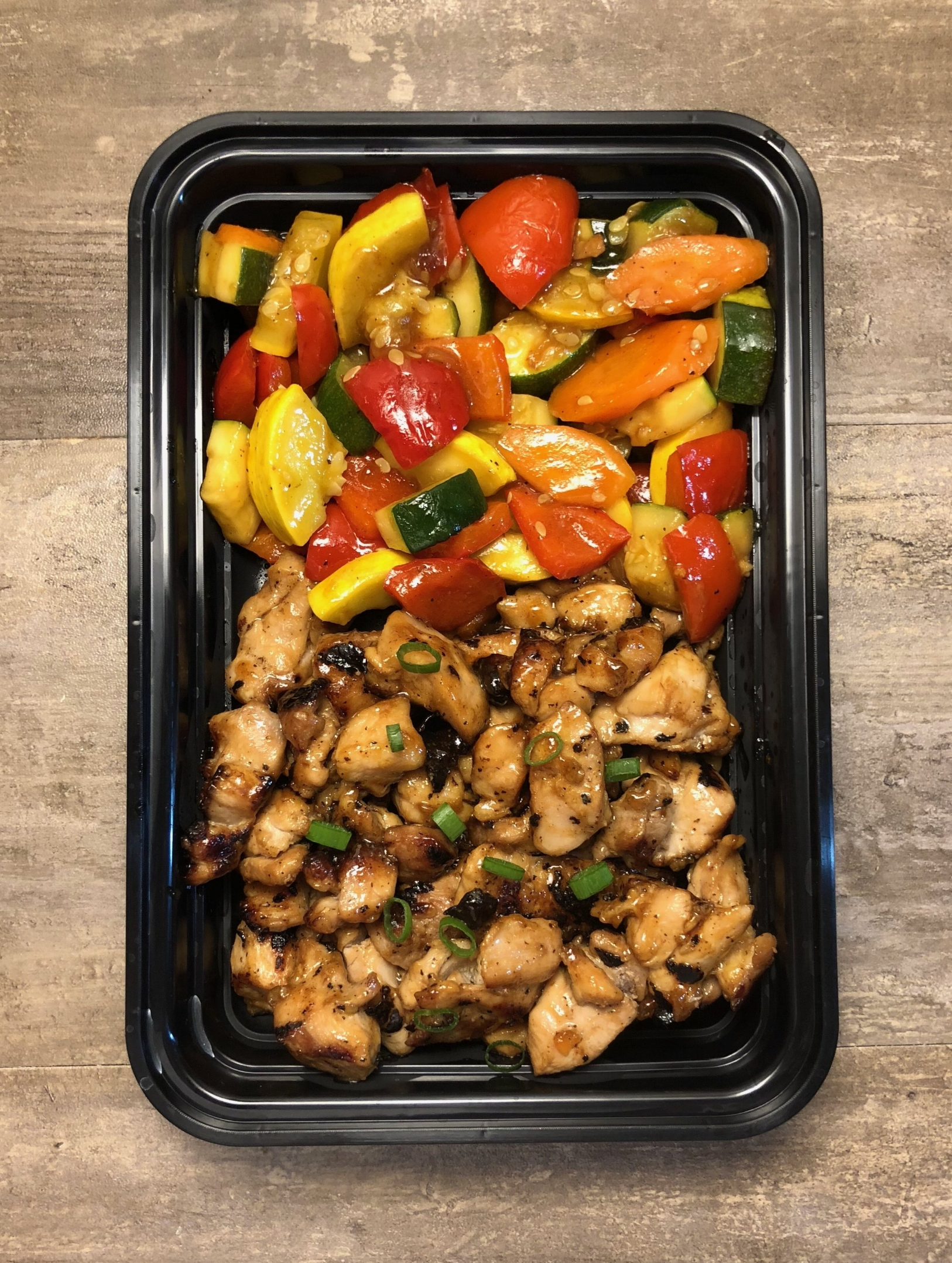 Teriyaki Chicken and Mixed Vegetables