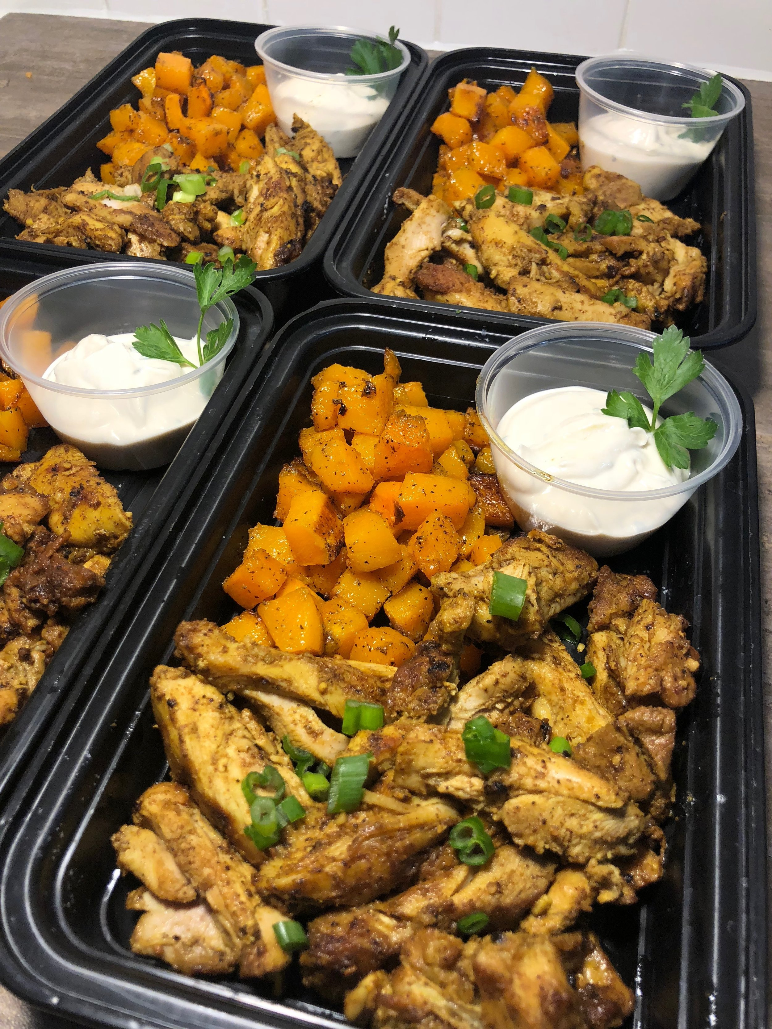 Chicken Shawarma with Roasted Butternut Squash