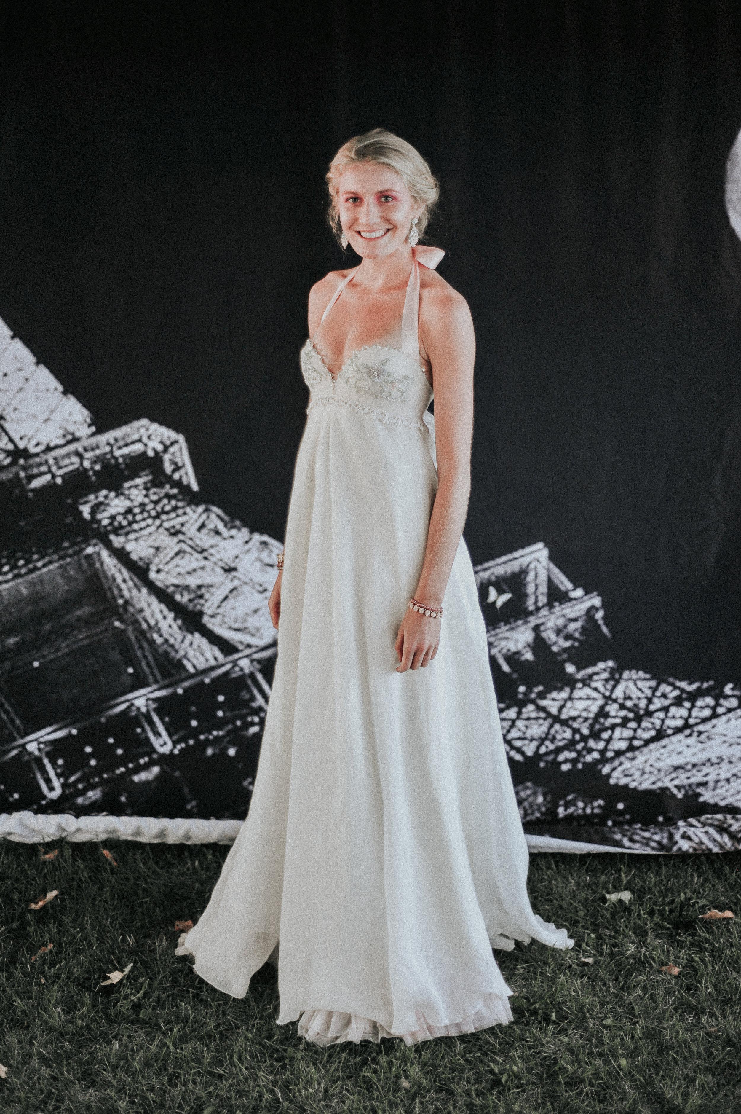 Cinderella Linen Wedding Gown
