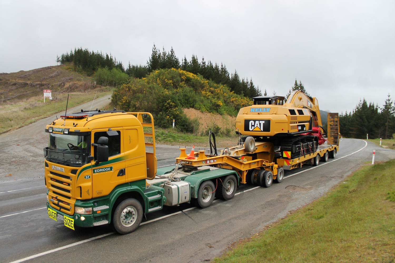 Transporting Kelly Logging's 336DL Warratah