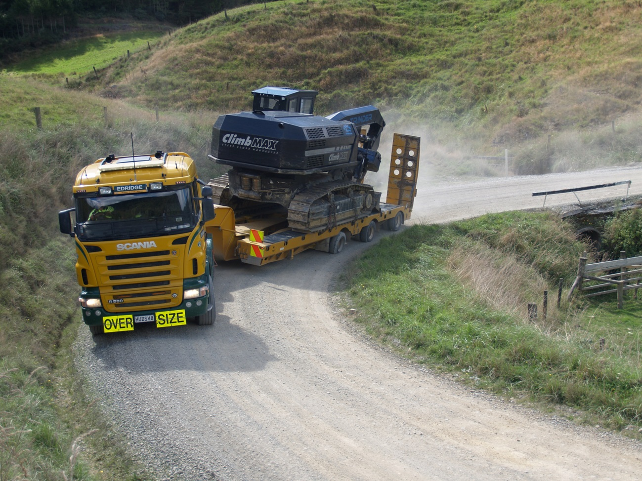 Transporting the ClimbMAX Steep Slope Harvester