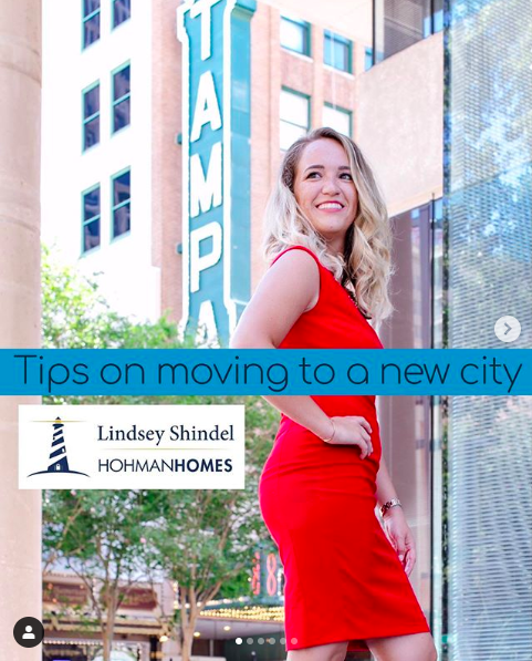 Hohman Homes Teammate Lindsey Shindel in Downtown, Tampa, Fla.