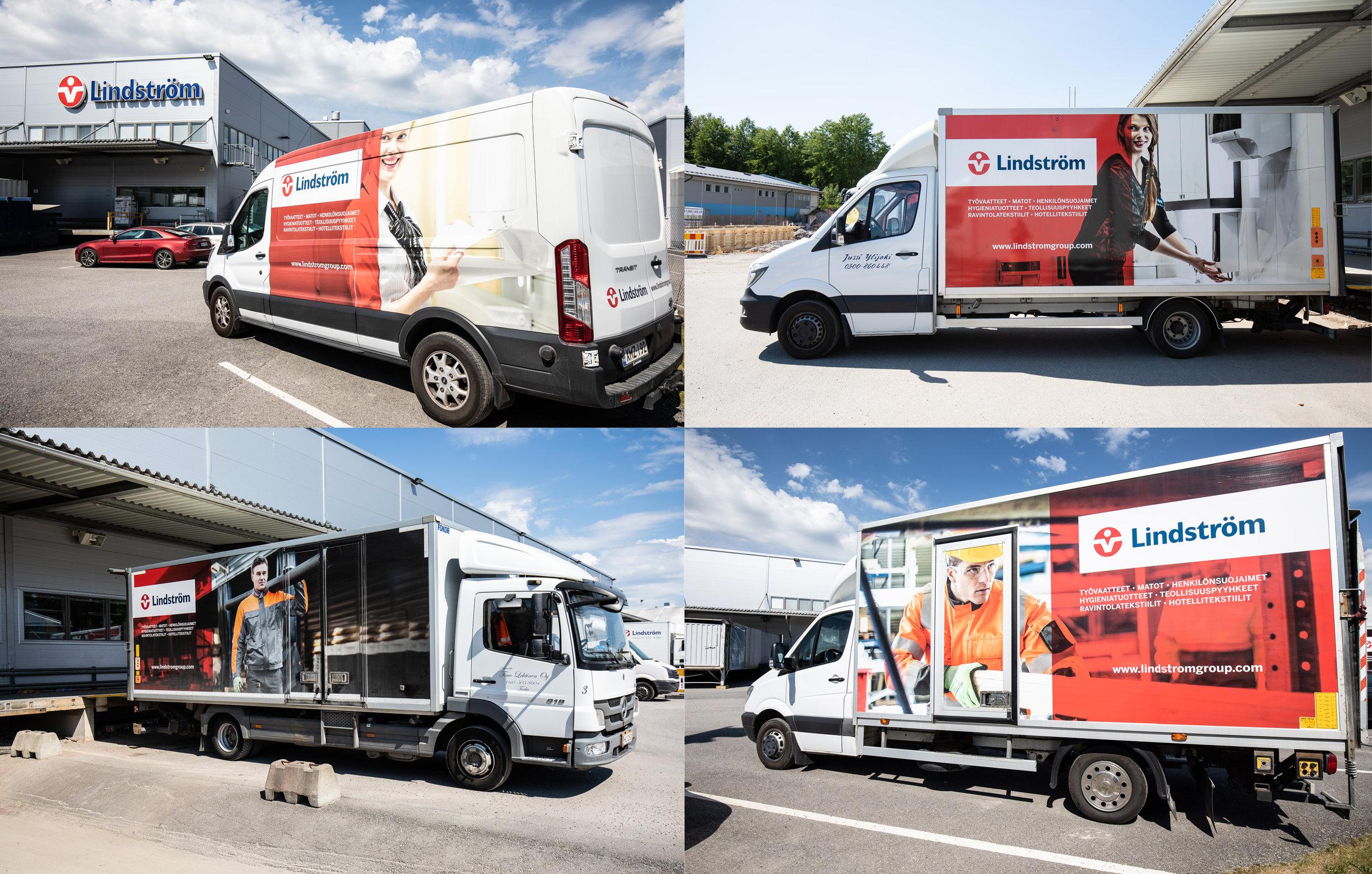 Lindström Group delivery trucks
