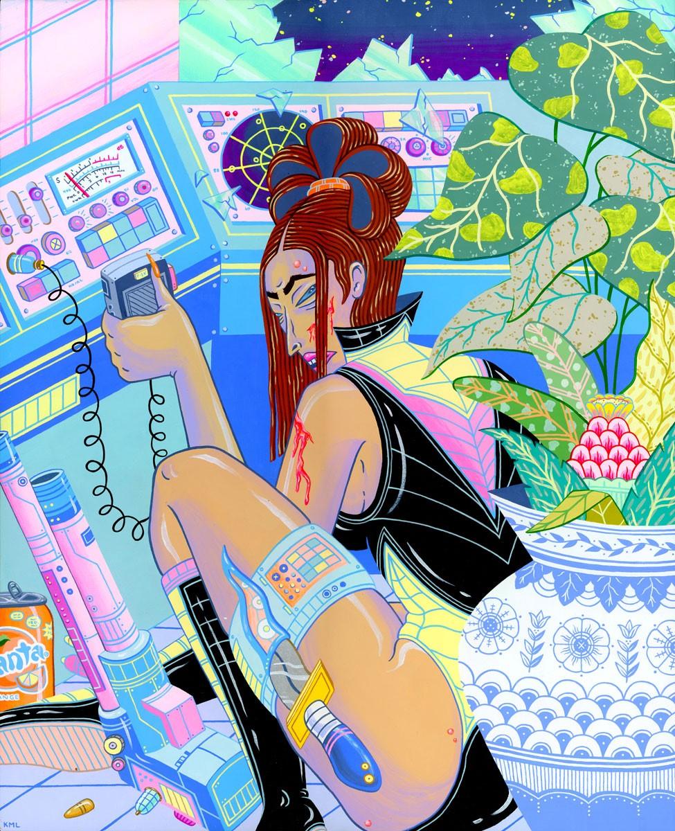 Kristen Liu-Wong 'A Choice' (acrylic and acrylic gouache on cradled wood panel, 20 X 16 inches).jpg