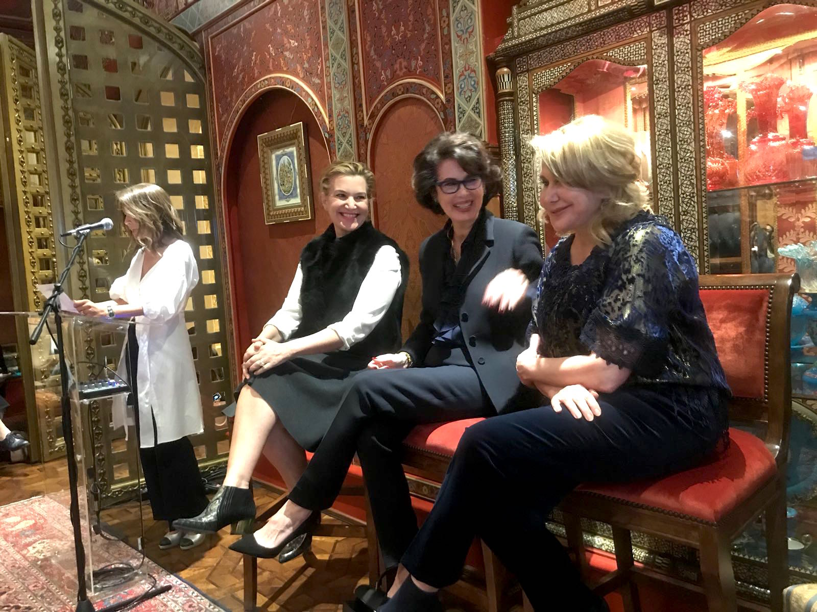 From left, Angella Nazarian, Krista Smith, Dayle Haddon, and Ghada Irani. (Photos courtesy of Renee Huesca)