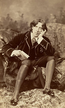 Oscar Wilde, looking bored with you.