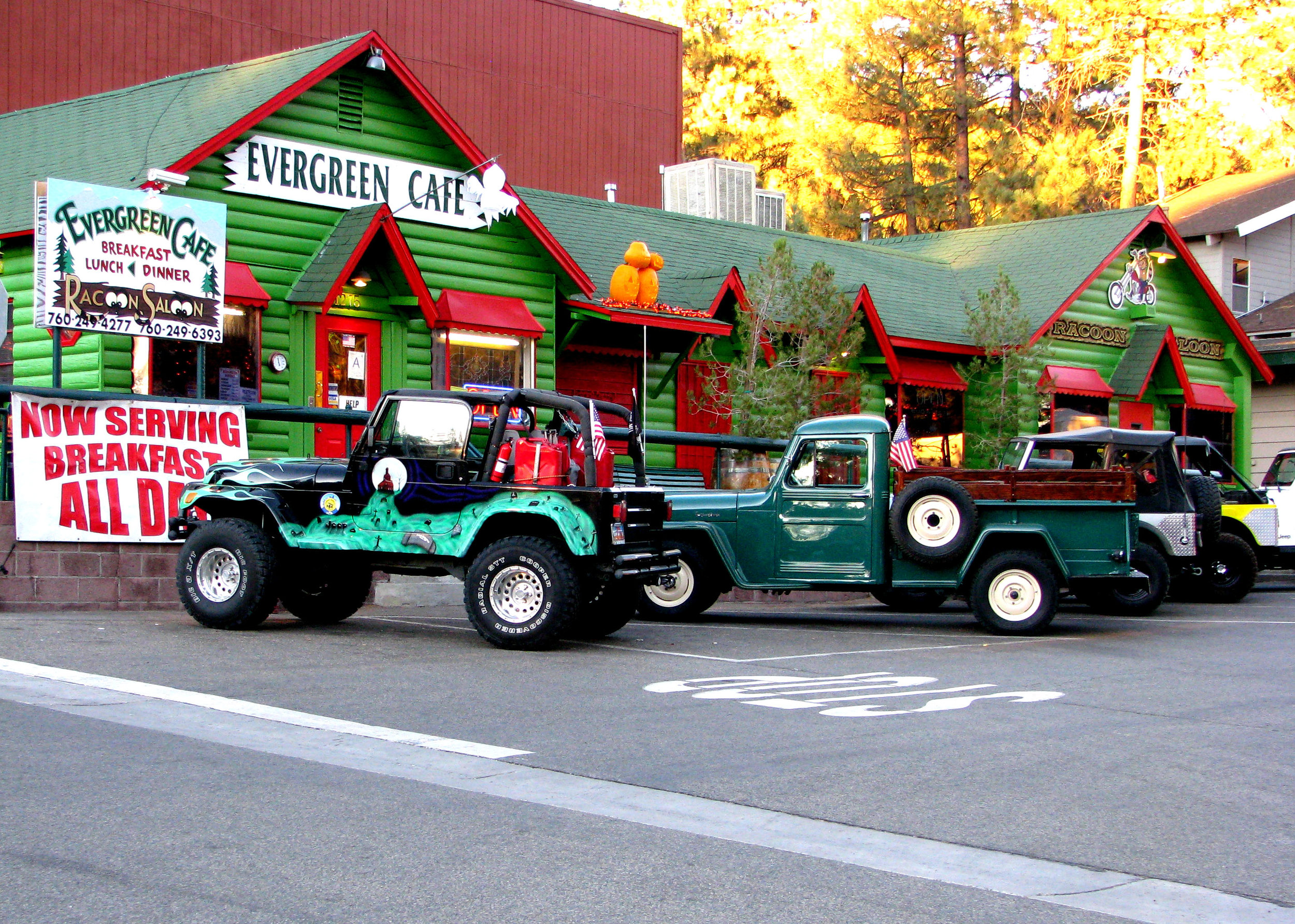 Evergreen Cafe in Wrightwood, California. Photo by Rennett Stowe via Flickr.
