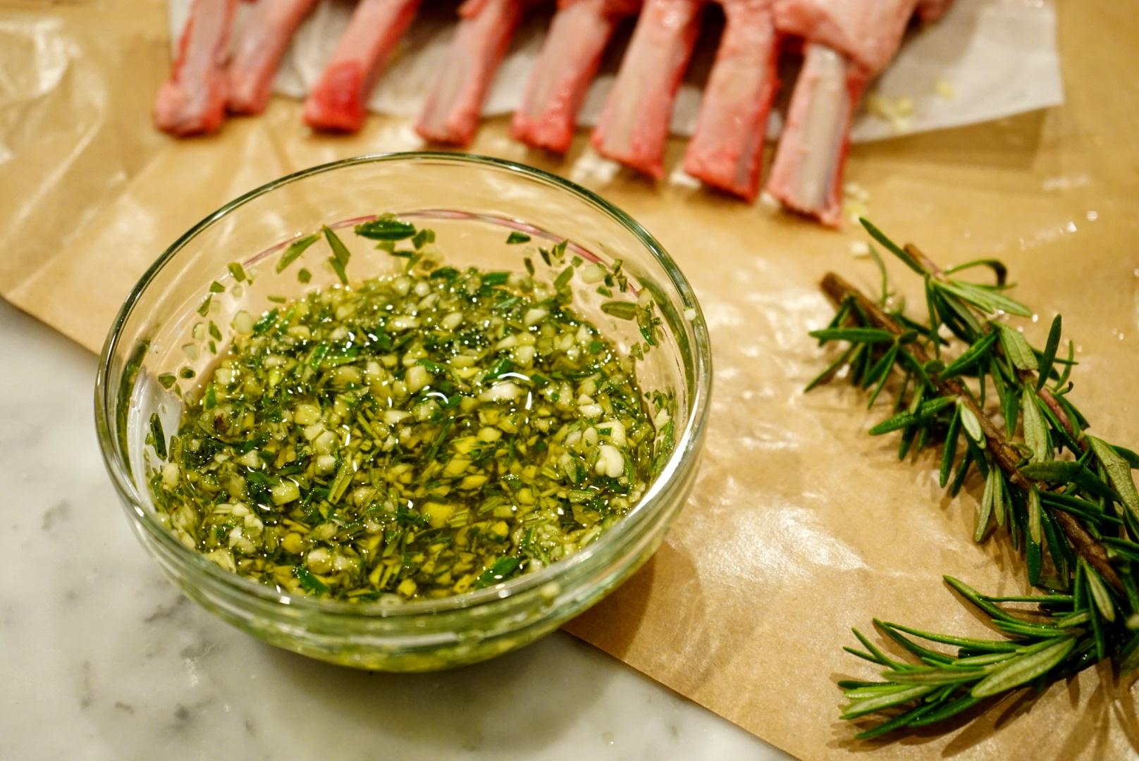 Olive oil, Rosemary and Garlic Rub.