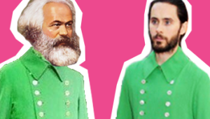 Jared Leto's Green Jacket Signals The Demise Of Late Capitalism And Nothing Matters Anymore |  Comedy Central UK