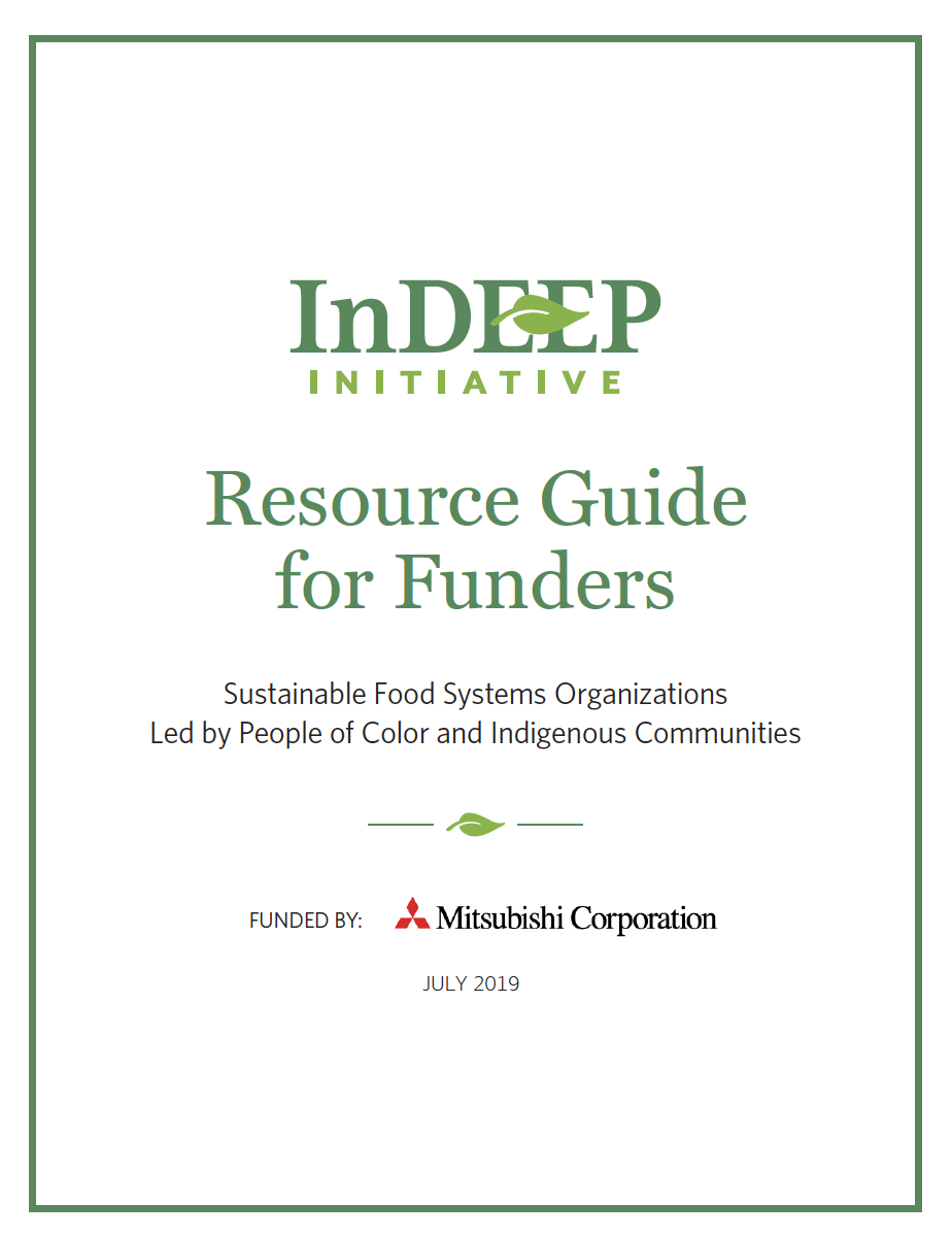 Click the image above to download the Resource Guide for Funders on Sustainable Food Systems Organizations Led by People of Color and Indigenous Communities.