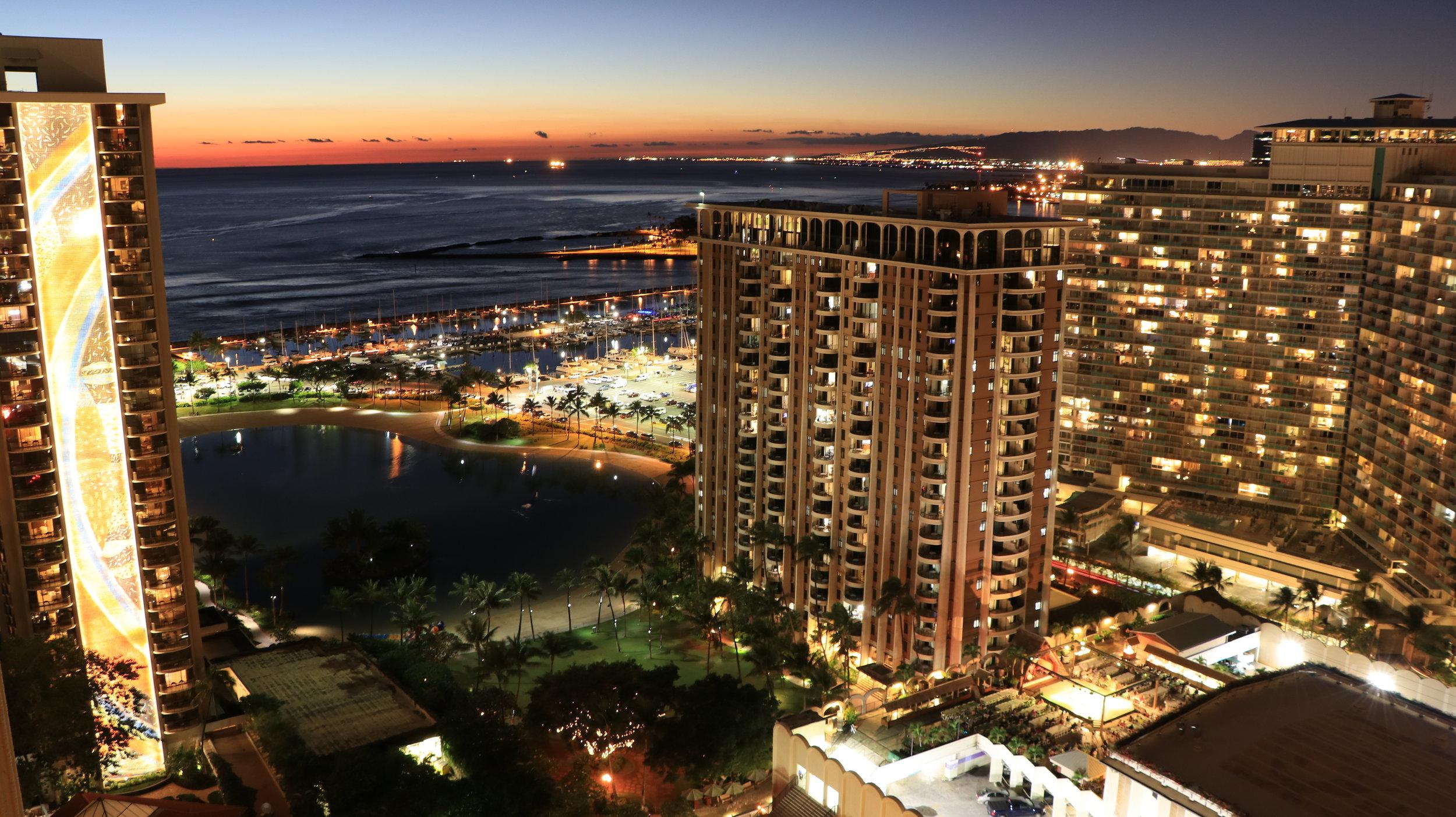 Night Scene - Honolulu, HI