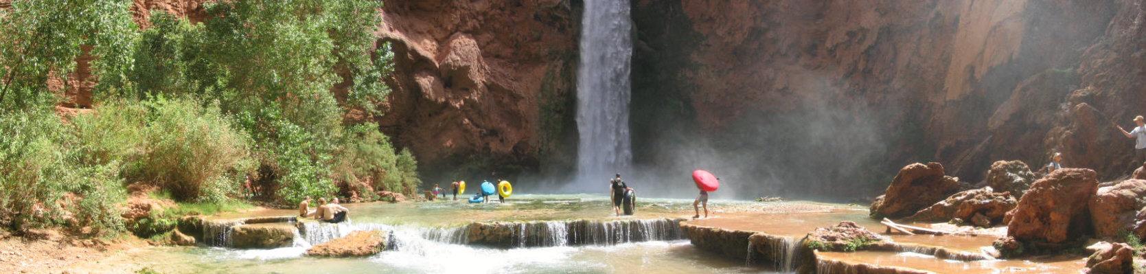Bottom Of Mooney Falls - Havasupai, AZ
