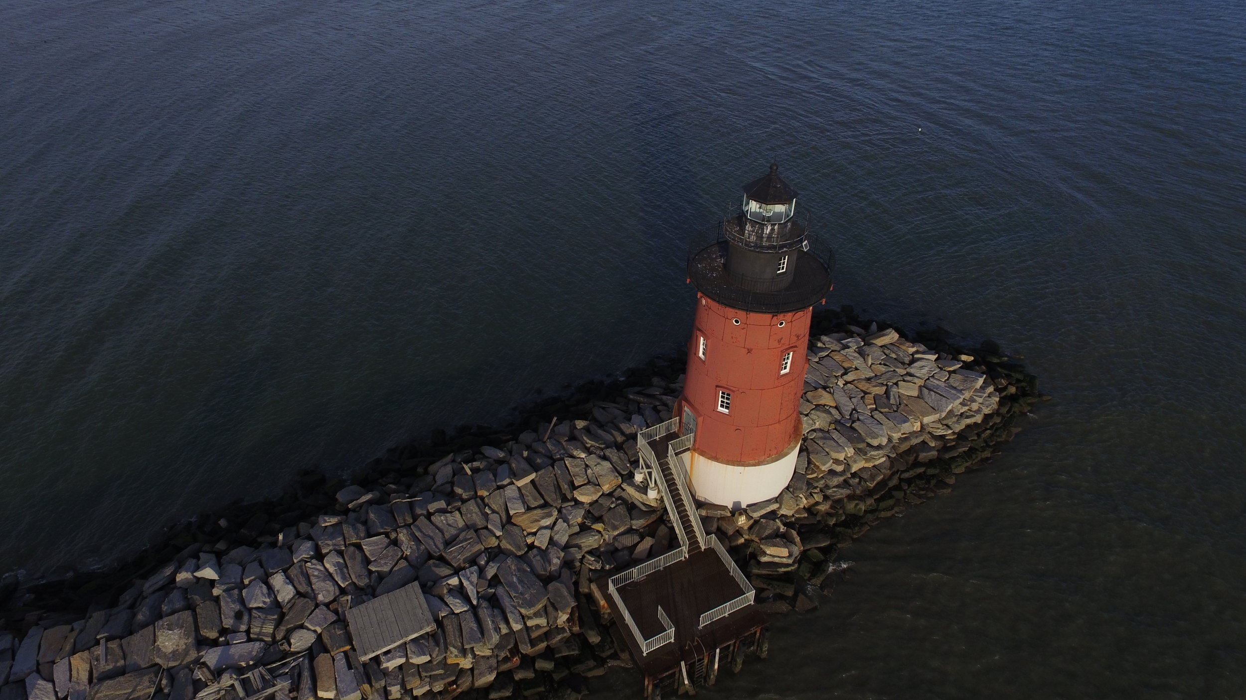 Aerial Of Breakwater Lighthouse - Lewes, DE