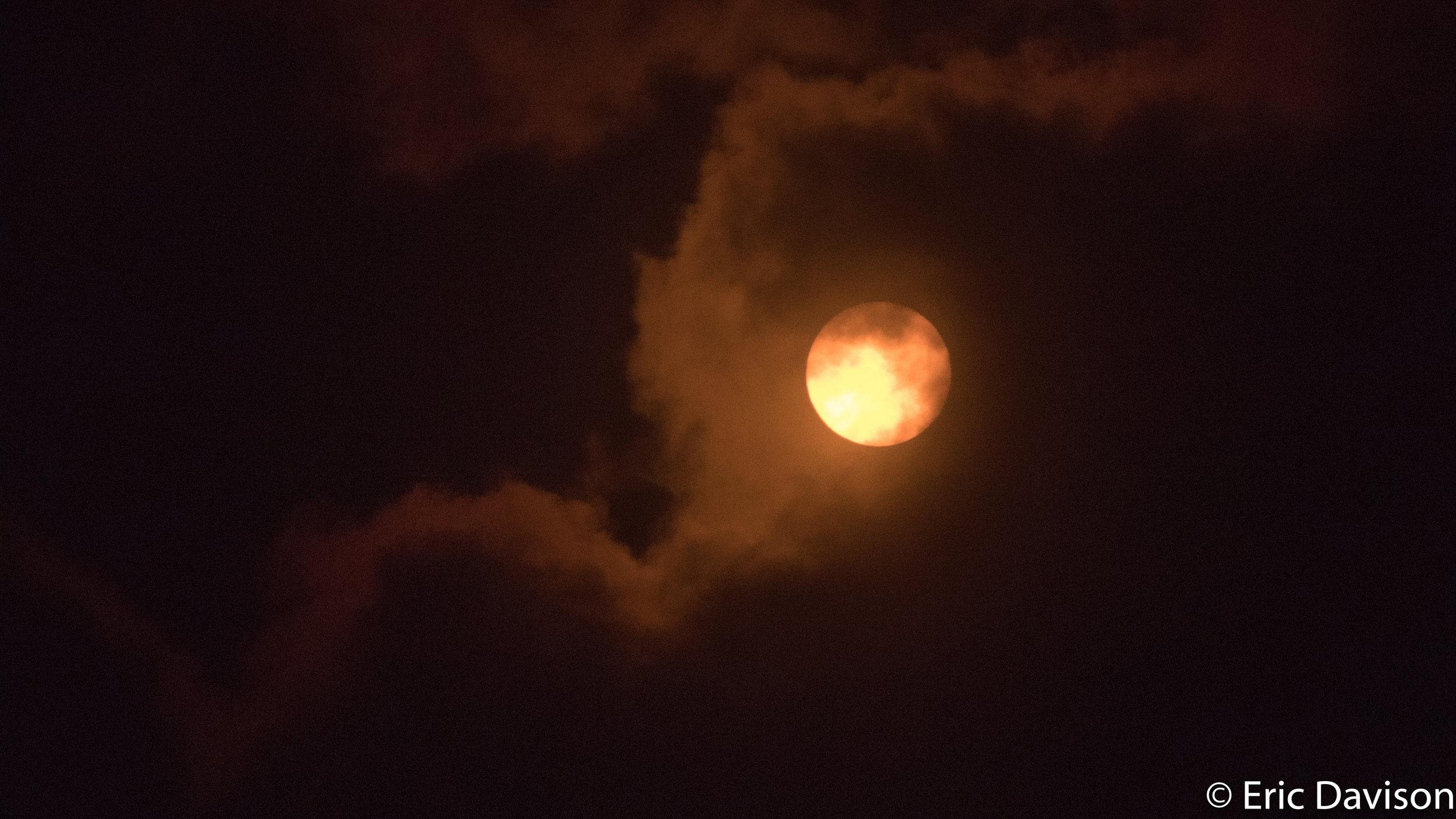 Sun Through Clouds - 2017 Total Solar Eclipse Nashville, TN