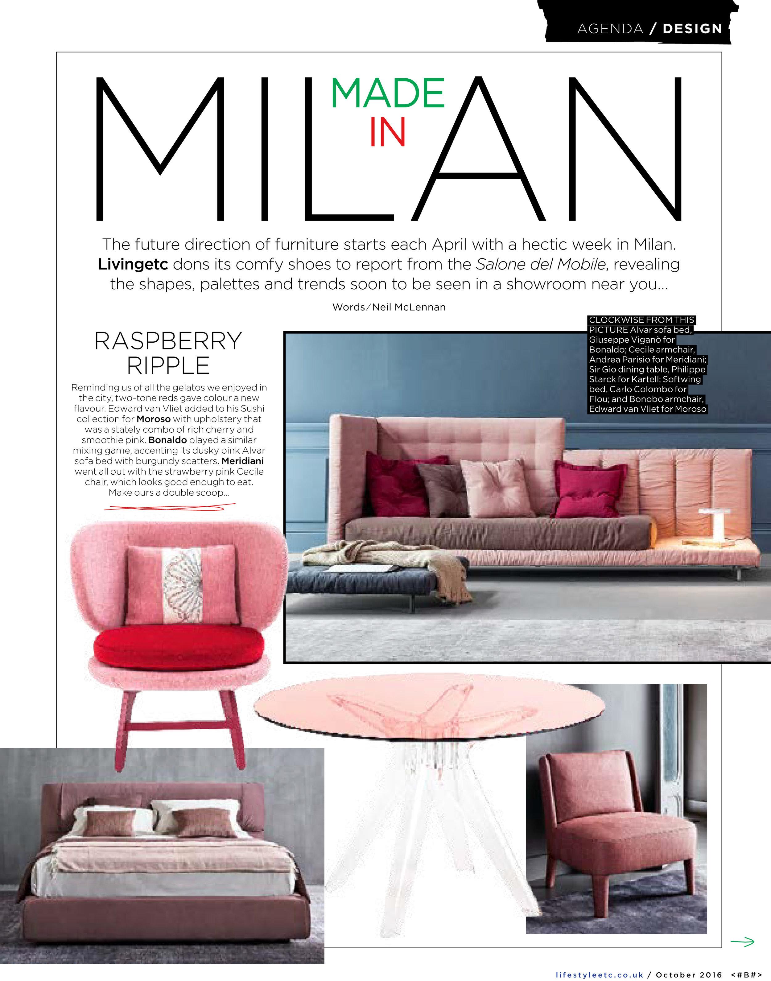 Reader takeaways from the Milan Furniture Fair