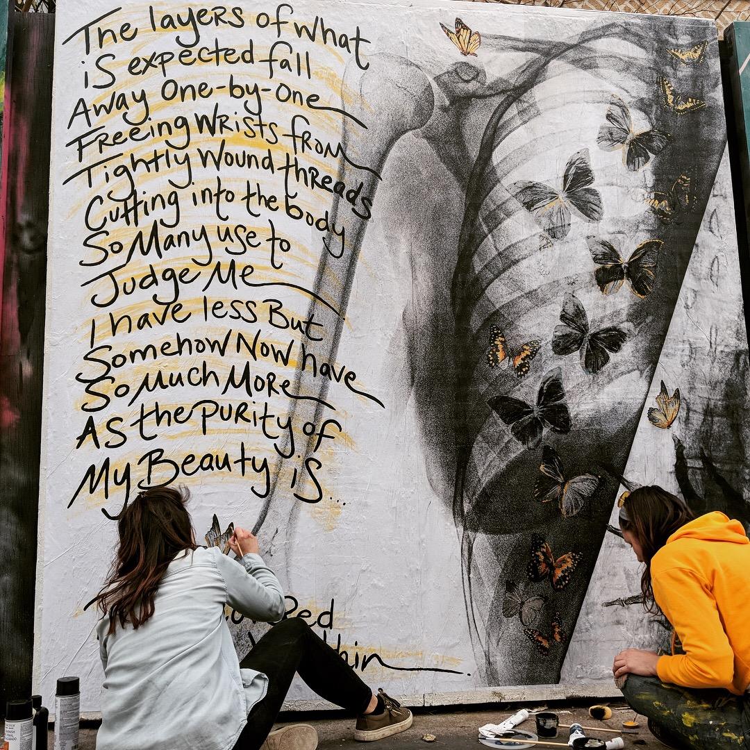 8' x 8' Work in Progress at Underhill Walls - Prospect Heights, Brooklyn