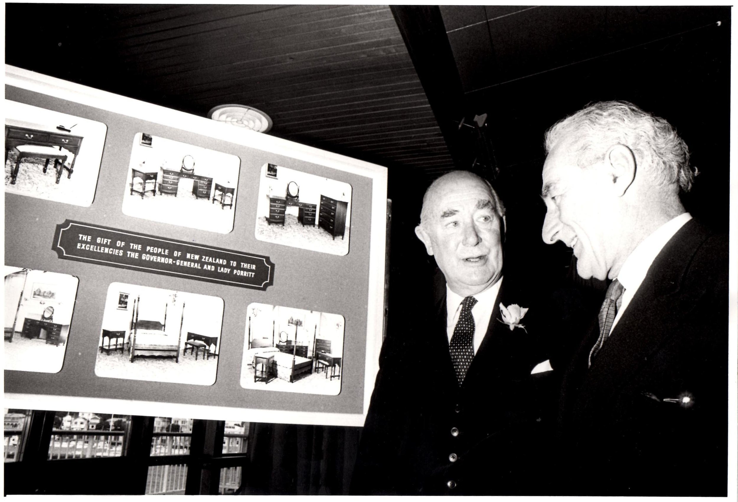 1972, NZ Governor General Porritt with PM Jack Marshall