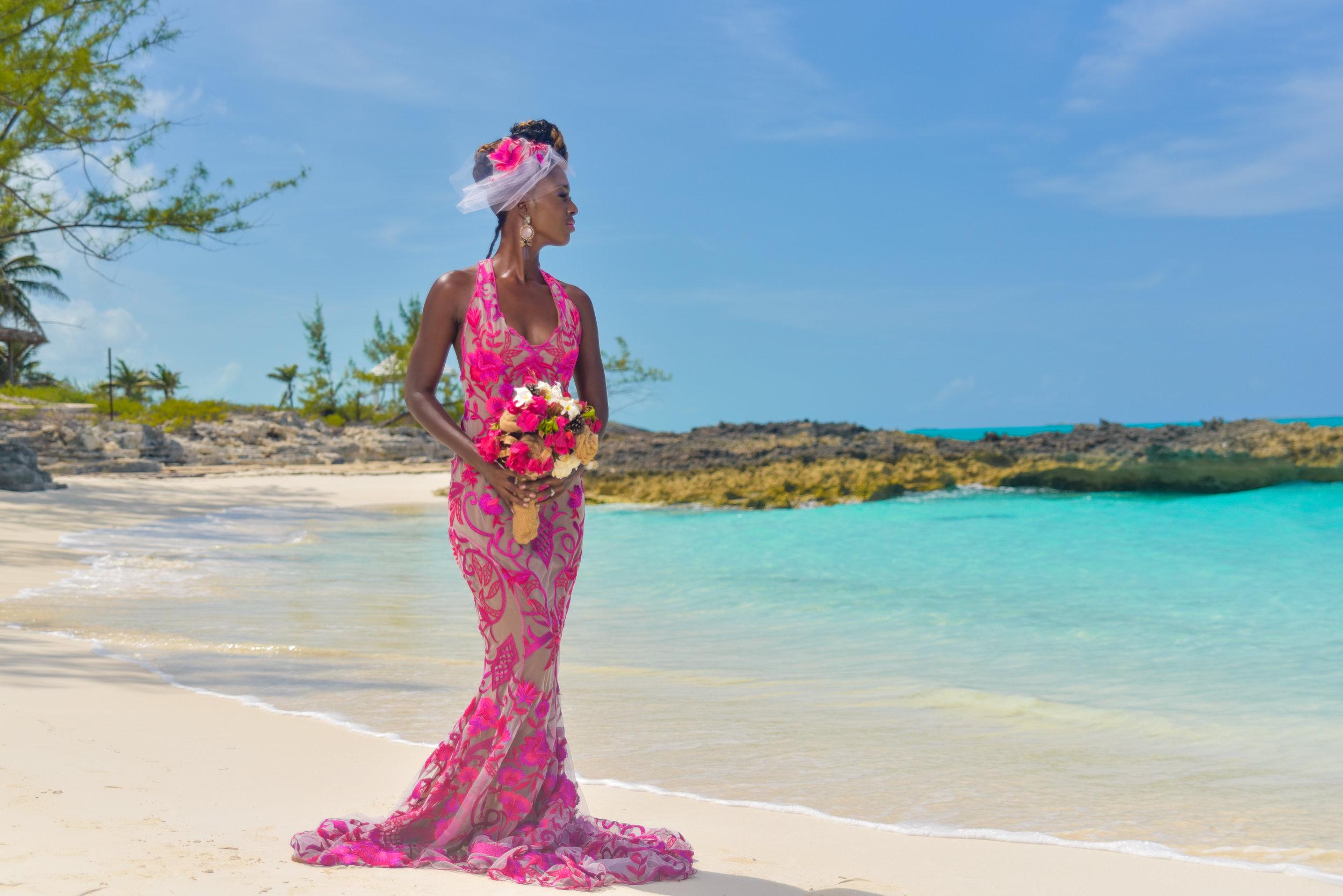 Paradise Lace Gown, Parody Veil