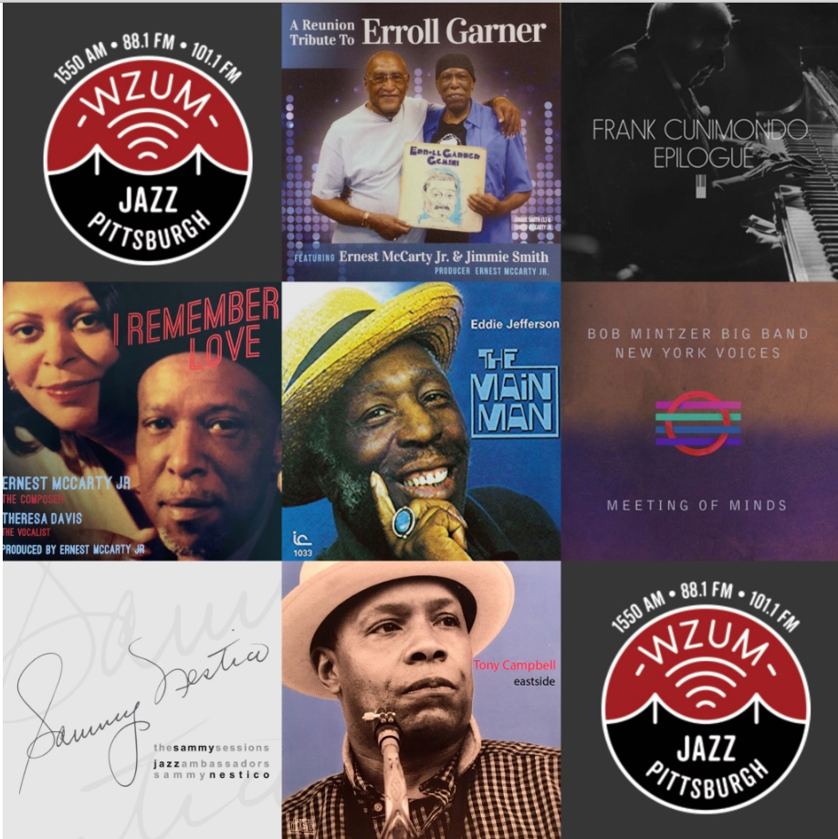 Pittsburgh Jazz Celebration- all 7 Featured CDs & BluRay Disc  $1,200 - $100 monthly Recurring gift, or $1,200 one-time giftReunion Tribute to Erroll GarnerBob Mintzer Big Band / New York VoicesFrank Cunimondo - EpilogueTheresa Davis/Ernest McCarty - I Remember LoveEddie Jefferson - The Main ManTony Campbell - EASTSIDESammy Nestico - The Sammy Sessions with the Jazz AmbassadorsFMV $124