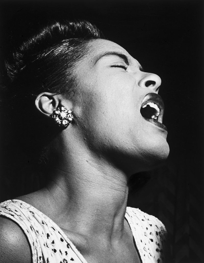 Billie Holiday,  William P. Gottlieb  collection at the  Library of Congress .