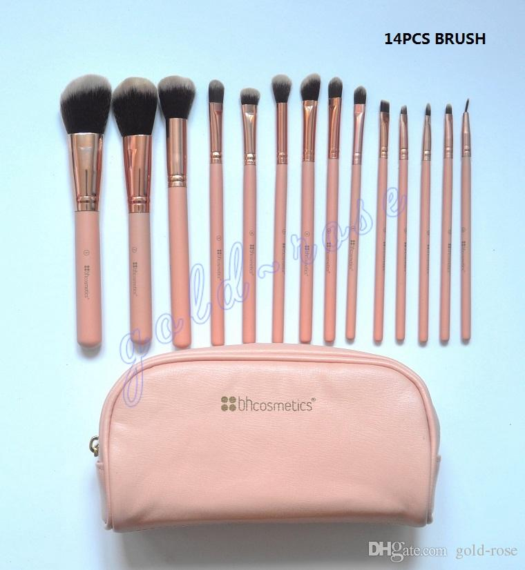 HOT BH Cosmetics Makeup Brush Foundation BB Cream Powder 14 Pieces Brush Makeup Tools DHL Free shipping+GIFT.jpg
