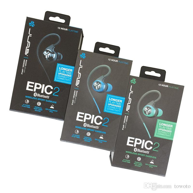 JLab Audio Epic2 Bluetooth 4.0 Wireless Sport Earbuds Waterproof IPX5 Earphones fitness in-ear headset New with Microphone Headphones Hot US (1).jpg