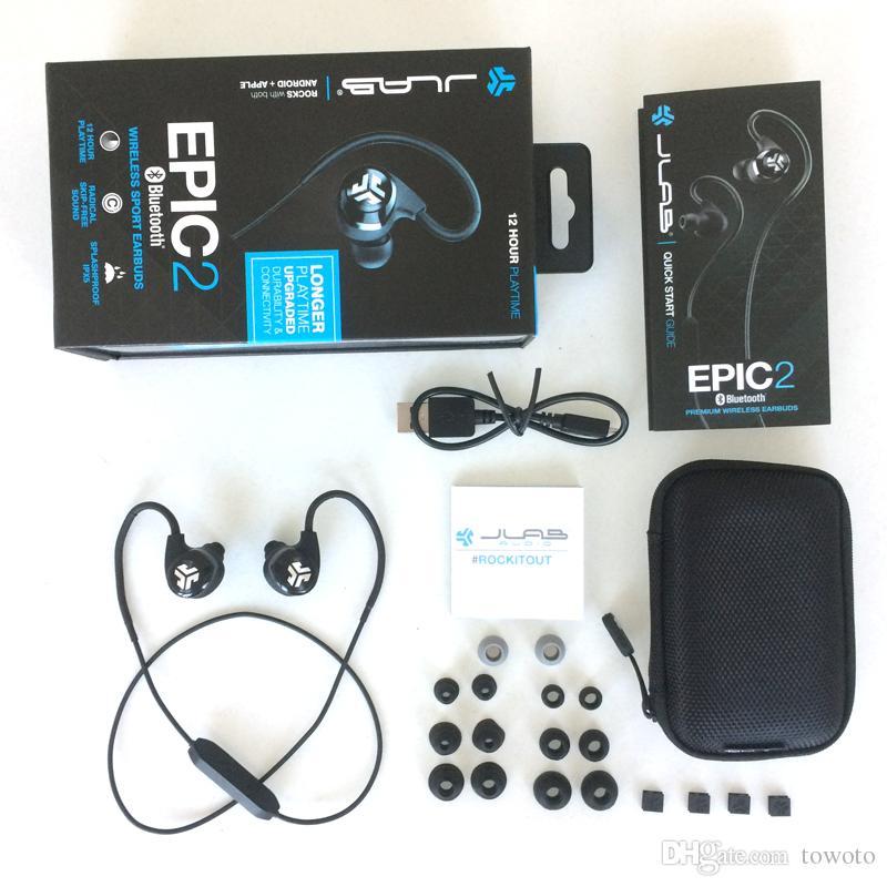 JLab Audio Epic2 Bluetooth 4.0 Wireless Sport Earbuds Waterproof IPX5 Earphones fitness in-ear headset New with Microphone Headphones Hot US.jpg