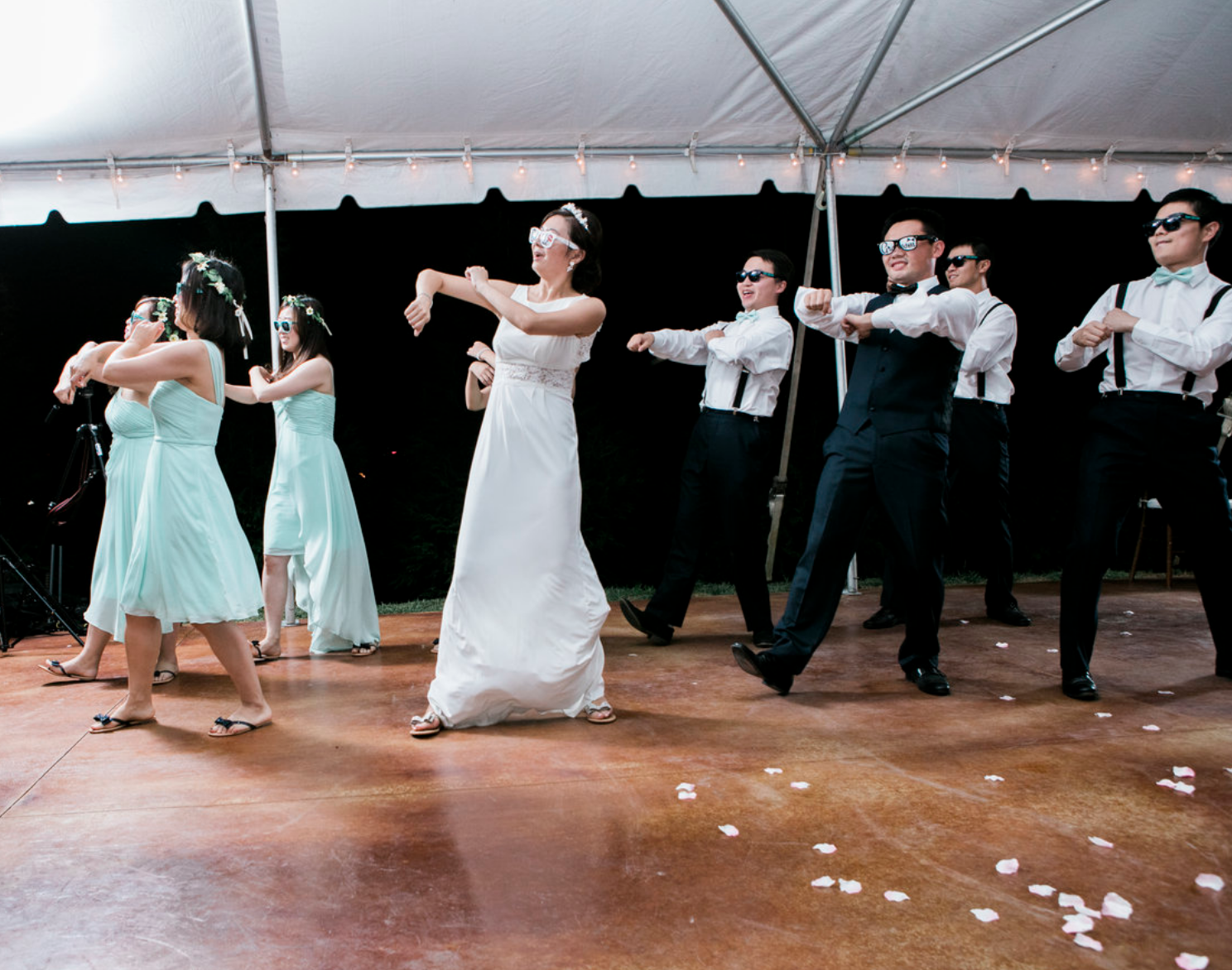 Entertain! can provide wood dance floors for weddings, and corporate events