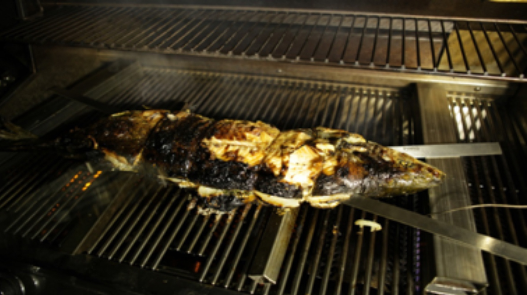 Salmon on the grill