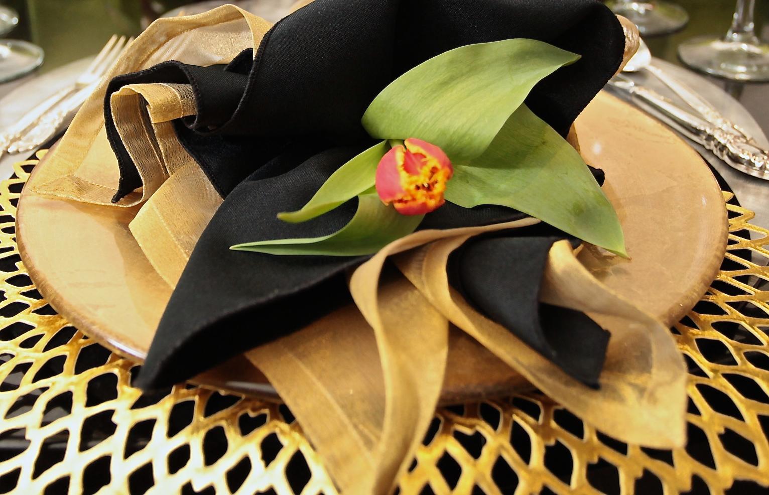 A Single Tulip - Tablescape Ideas