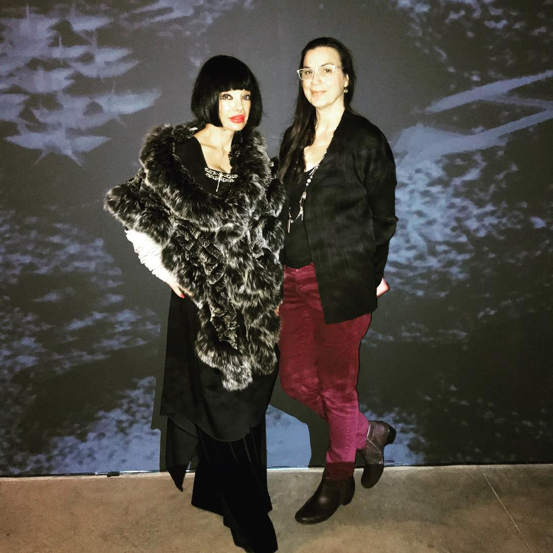 "With artist Victoria Vesna and her work at the UC Irvine ""It Passes Like a Thought"" Exhibition Opening Reception"